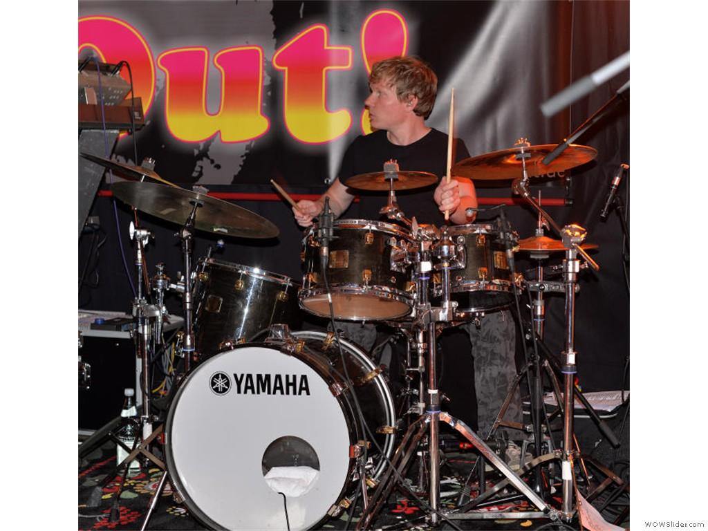 Marco Steffen on drums